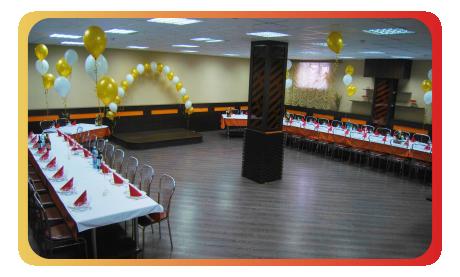 Большой банкетный зал для проведения свадеб